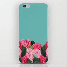 Floral & Turquoise iPhone & iPod Skin