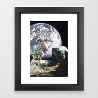 Hey Moon Framed Art Print