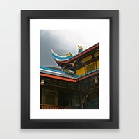 Temple Rooftop Framed Art Print