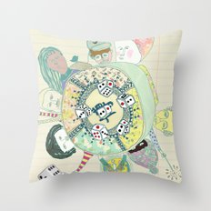 GAMBLING DAY Throw Pillow