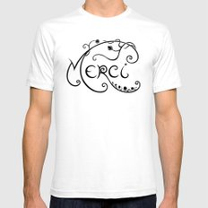 Merci Mens Fitted Tee SMALL White