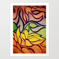 waves Art Prints featuring Waves by Aaron Carberry