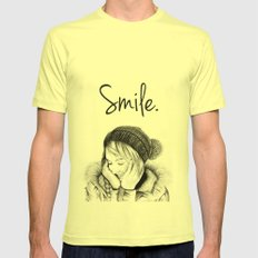 Smile. Mens Fitted Tee Lemon SMALL