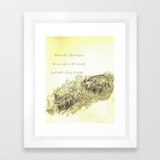 The Chase Framed Art Print
