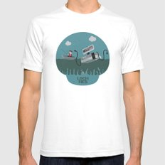 Loch NES V.2 Mens Fitted Tee White SMALL