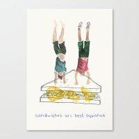 Handstand Sandwiches Canvas Print