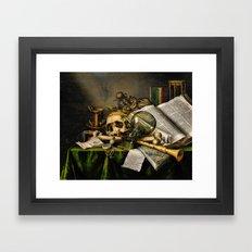 Vintage Vanitas- Still Life with Skull Framed Art Print