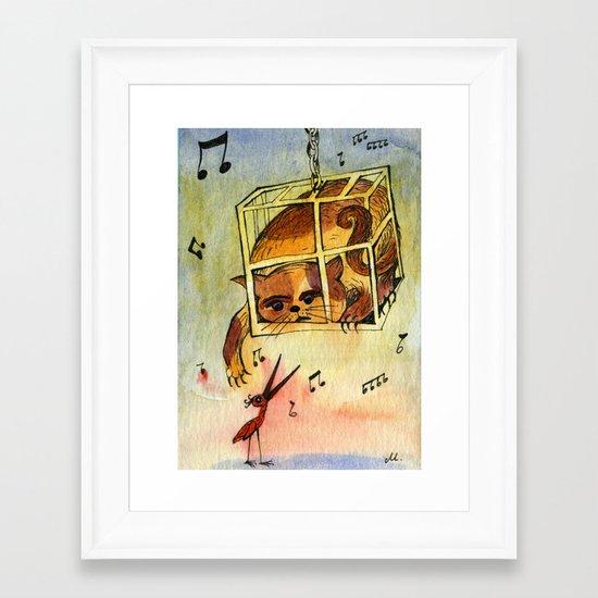 Annoying situation Framed Art Print