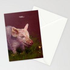 { Pig } Stationery Cards