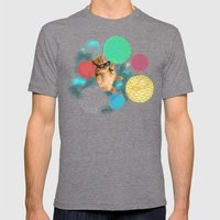 A PLAYFUL DAY Mens Fitted Tee Tri-Grey SMALL