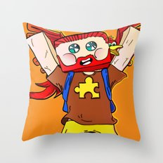 Getting jiggy with it - Minecraft Avatar Throw Pillow