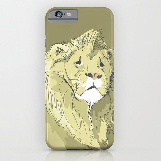 The Sad Lion iPhone & iPod Case