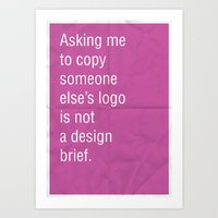 Asking Me To Copy Someon… Art Print