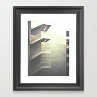 Industrial Stairs 02 Framed Art Print