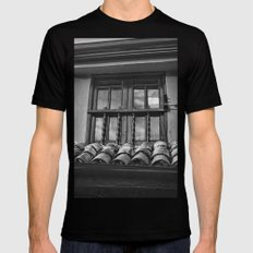 Look Through the Window Mens Fitted Tee Black SMALL