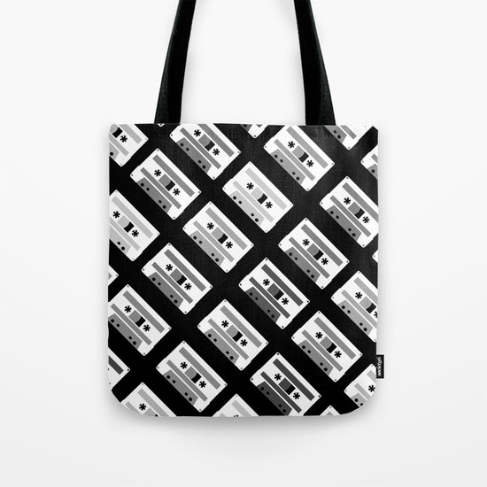 Black and White Tapes 45 Tote Bag