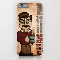 iPhone & iPod Case featuring Ron Swanson by maykel nunes