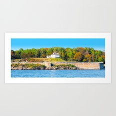 Excerpt from a Lovely Day at Portsmouth Harbor Art Print