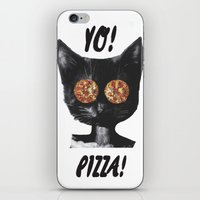 Pizza cat iPhone & iPod Skin