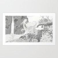 Dragon Falls  Art Print