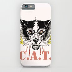 Space Cat King Fire iPhone 6s Slim Case