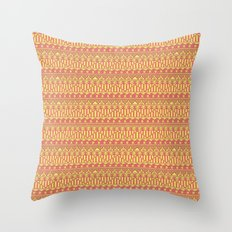 Aztec duo color pattern Throw Pillow