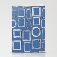 Picture Frames Blue Stationery Cards