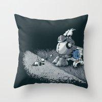 Here Ya Go Little Fella! Throw Pillow