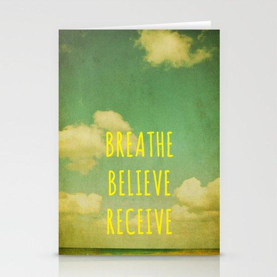 Breathe Believe Receive Stationery Card