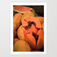 Papaya Art Print