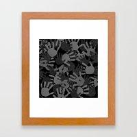 evidence v2: nite camo Framed Art Print