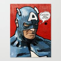 Captain America Canvas Print