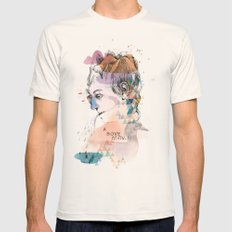 Mountain Head Mens Fitted Tee Natural SMALL