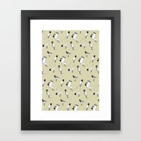 Bird Print - Natural Framed Art Print