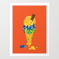 Brazilian Icecream Art Print