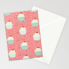 cupcakes and sprinkles Stationery Cards