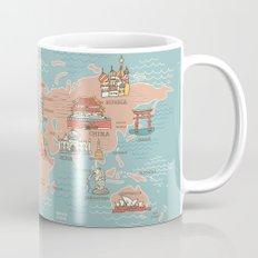 World Map Cartoon Style Mug