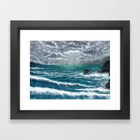 Sunbeam Seascape Framed Art Print