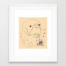 manatee print Framed Art Print