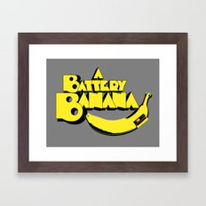 A Battery Banana Framed Art Print