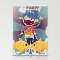 Fish Kid Stationery Cards