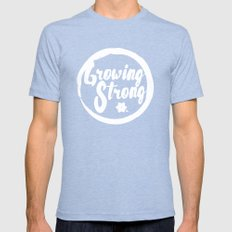 Growing Mens Fitted Tee Tri-Blue SMALL