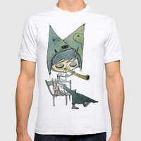 the rabbit's song Mens Fitted Tee Ash Grey SMALL