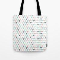 Geometric pastel triangle scandinavian style aztec print Tote Bag