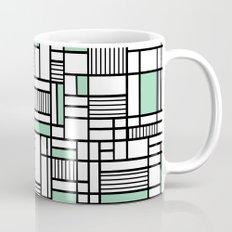 Map Lines Mint Mug