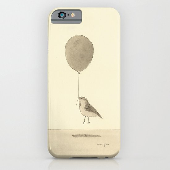 bird with a balloon iPhone & iPod Case