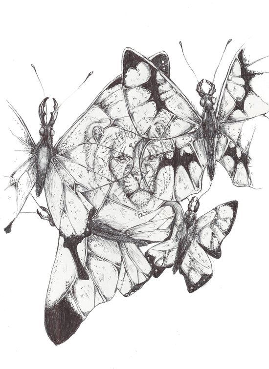 Collage.  Art Print