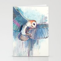 Broken Owl Stationery Cards