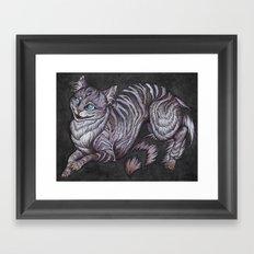 the Cheshire Cat art print Framed Art Print