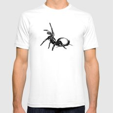 Sydney Funnel Web Mens Fitted Tee White SMALL